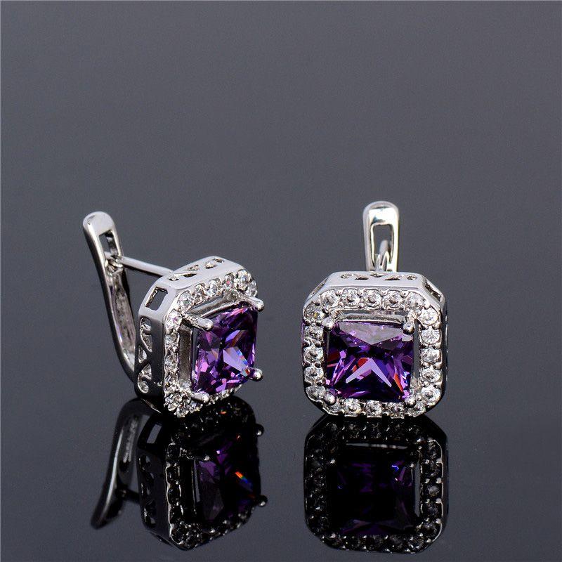 c3c203eb47 Smart Chic Purple Zircon Earings in 2018 | Hoop Earrings | Pinterest ...