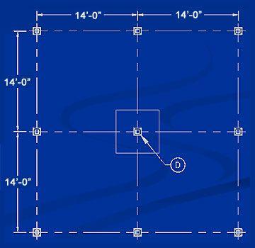 For Column D In The Above Drawing Horizontal Span 14 0 14 0 28 0 Vertical Span 14 0 14 0 28 0 Squar Interior Columns Mezzanine Flooring