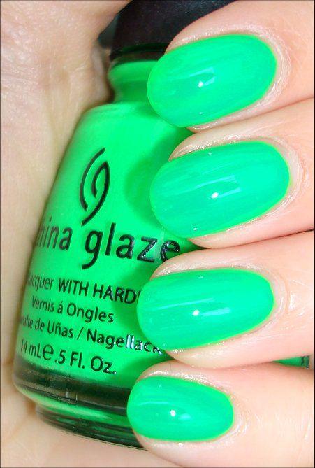 China Glaze Kiwi Cool Ada The Brightest Neon Green Polish I Own