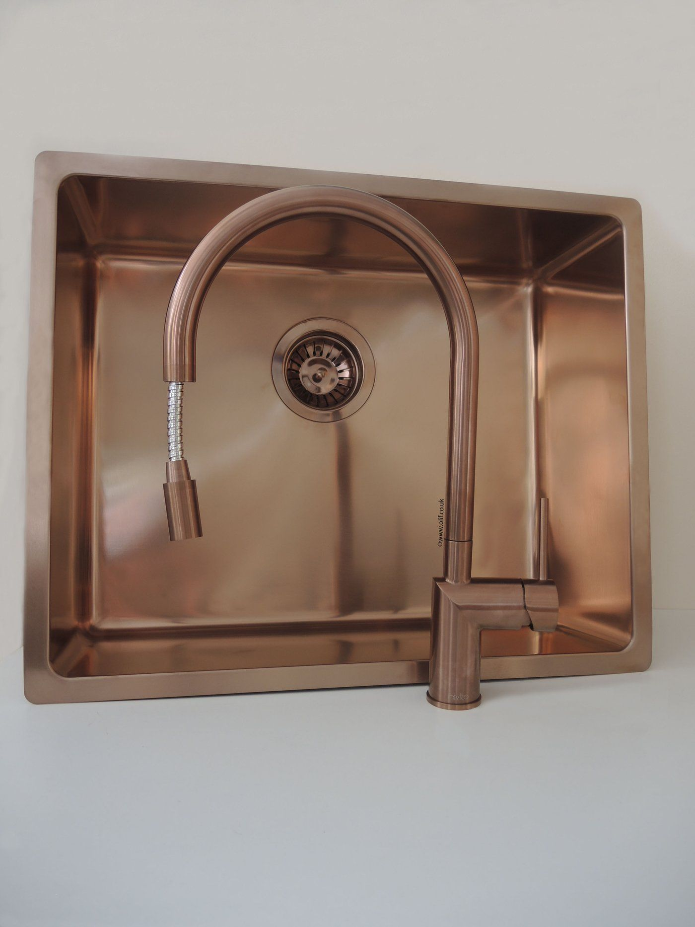 Brushed Copper Pull Out Mixer Tap Stainless Steel Uk Nivito Rh