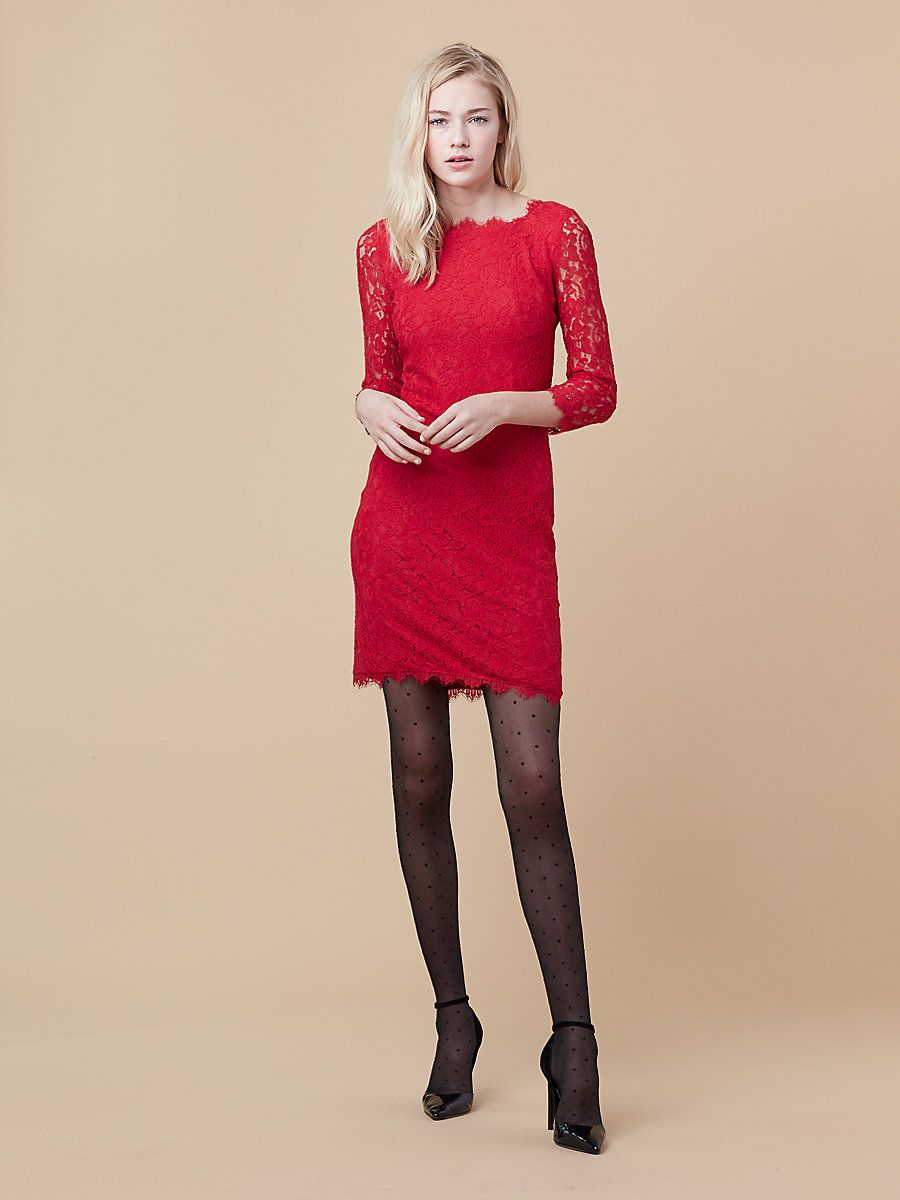 Zarita long lace dress in scandal red havana pinterest lace