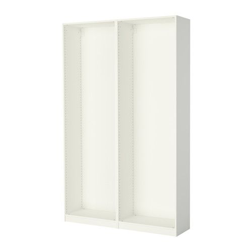 pax 2 wardrobe frames white ikea pax organizing and spaces. Black Bedroom Furniture Sets. Home Design Ideas