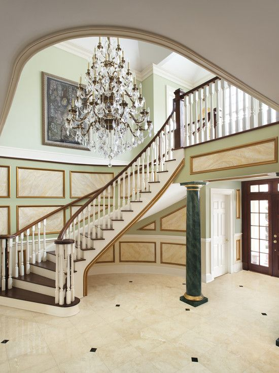 Staircase Wall Panel System Wainscot Design Pictures Remodel Decor And Ideas