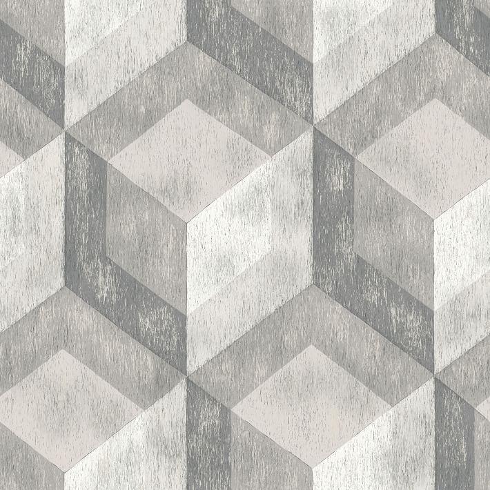 Bauhaus Distressed Wood Peel Stick Wallpaper In 2020 Blue Geometric Wallpaper Geometric Wallpaper Wood Wallpaper