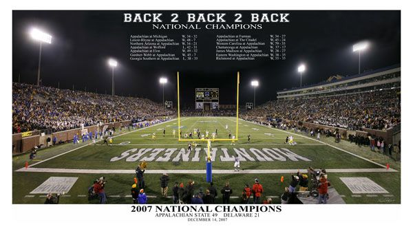 "Appalachian State Football ""Back 2 Back 2 Back"" (2007"