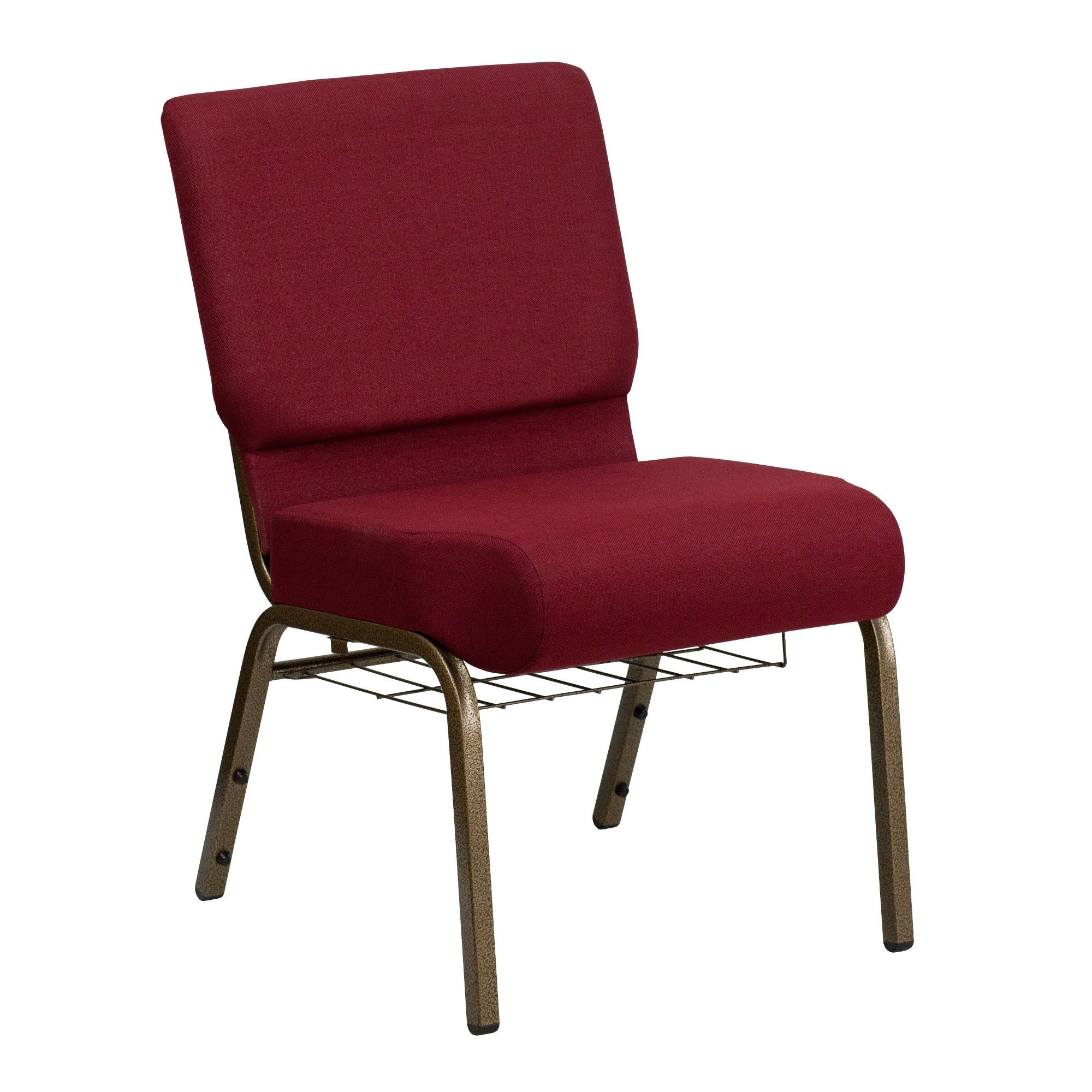 Riverstone Furniture Collection Fabric Church Chair Burgundy (Red)