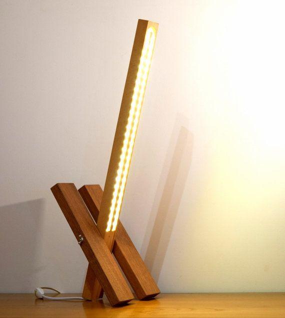 Lampe Bois Massif Lampe Design Modifiable Etsy Wood Lamps Wall Lamps Diy Bamboo Lamp