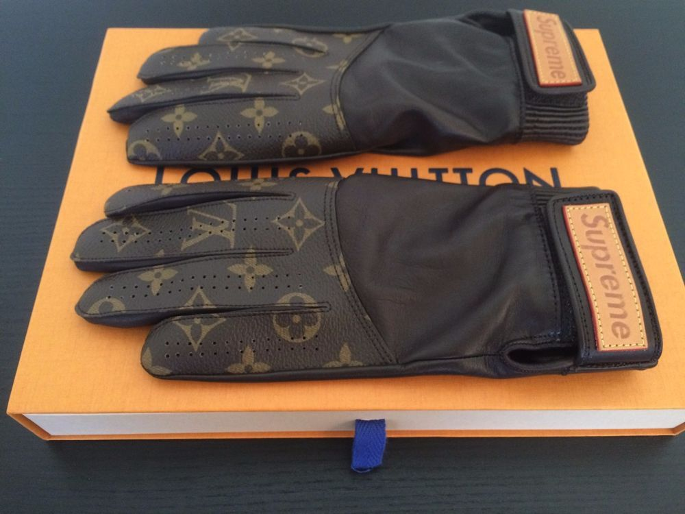 Louis Vuitton X Supreme Brown Leather Lv Baseball Gloves Trending