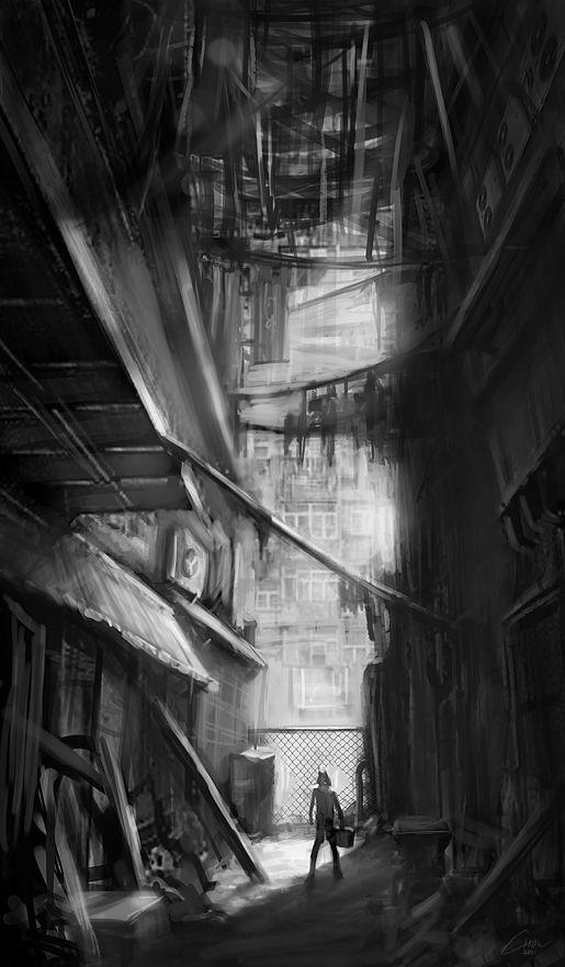 art of kowloon walled city 배경 모험 그림 on walled id=99833