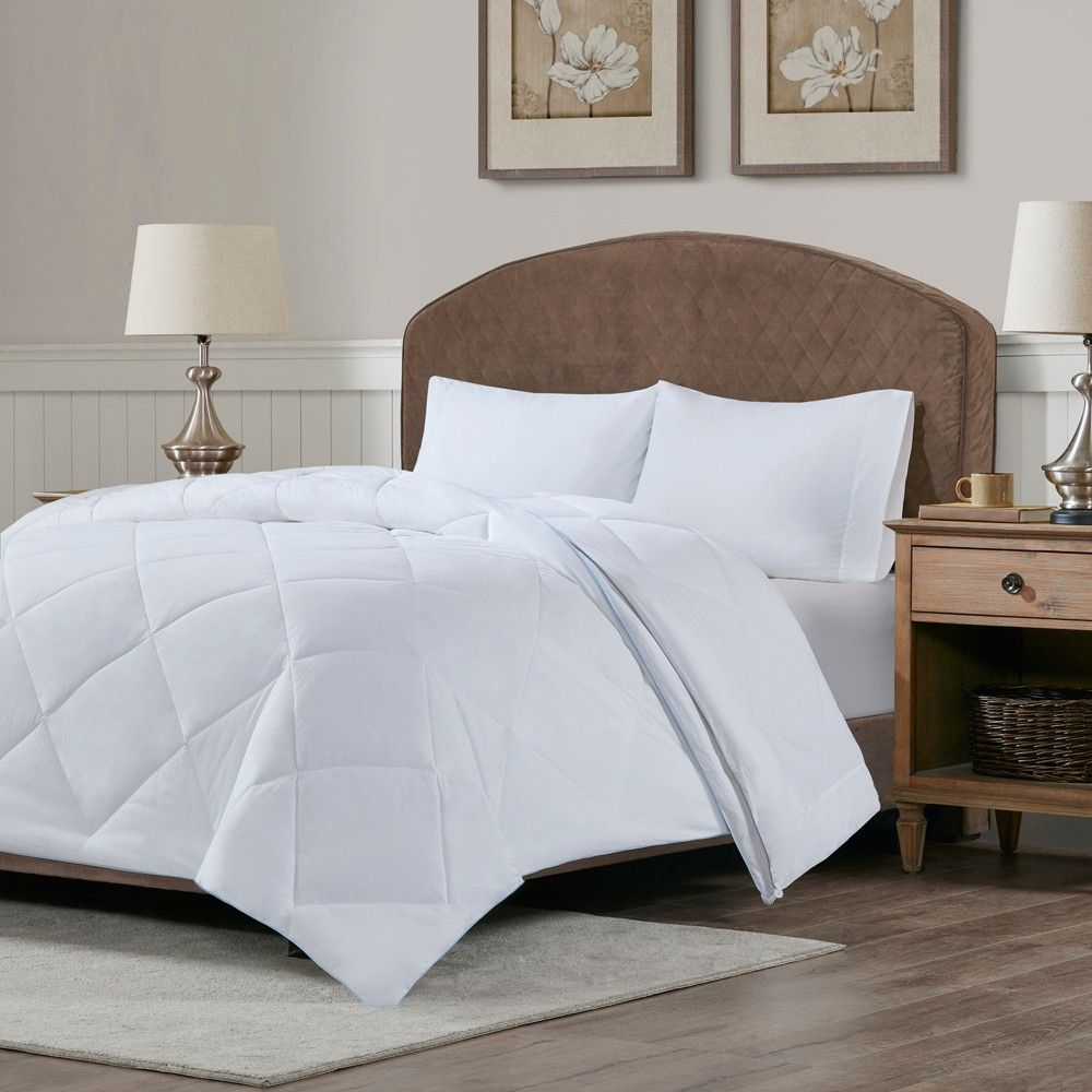 Full Queen Cooling And Warm Reversible Cotton Comforter White