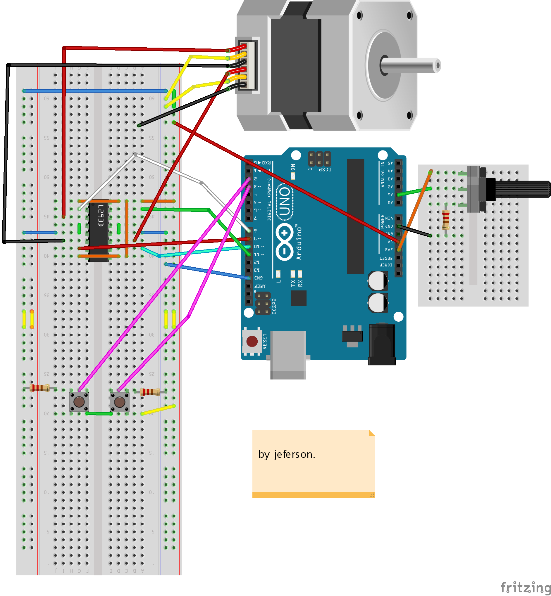 Stair Lights With Arduino: Control The Direction And Speed Of Stepper Motor Using