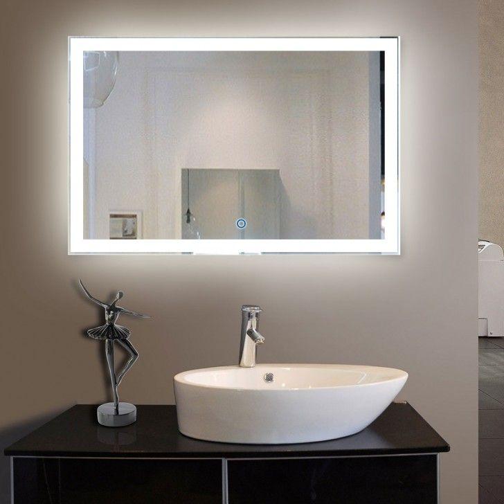 55 x 36 po Miroir LED Salle de Bain Horizontal avec l Interrupteur