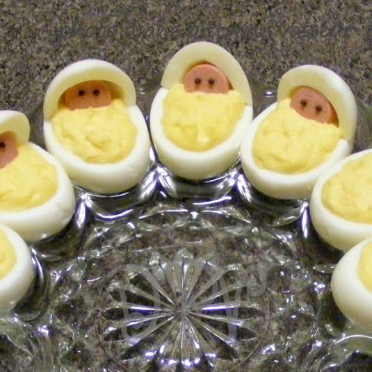 Baby Girl Baby Shower Food Ideas: Newborn Babies Deviled Eggs (Baby Shower)