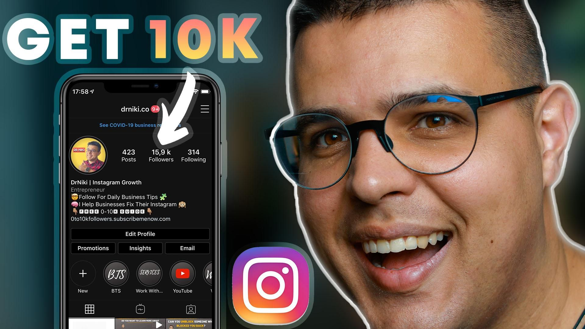 I want to show you exactly how to get 10000 followers on Instagram. It's no secret that having 10000 followers on Instagram opens up a whole bunch of possibilities for you. You will have a good amount of social proof and you will also gain access to the all important swipe up feature once you reach 10000 followers on Instagram. In this Instagram growth strategy 2020 you will learn everything you need to know about growing on Instagram and reaching your first goal of 10000 followers on the platfo