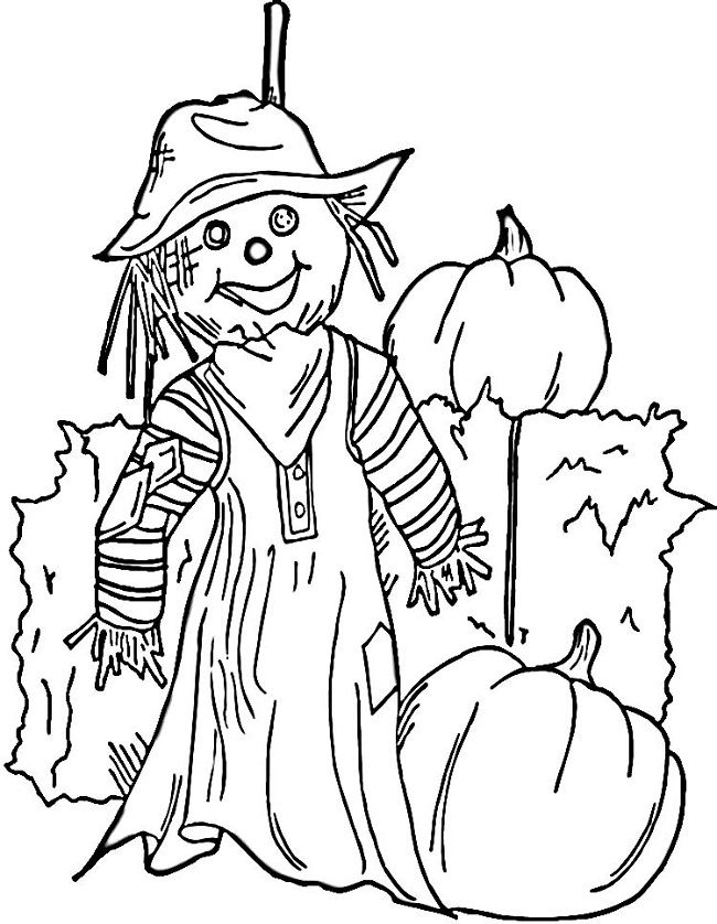 Scarecrow Coloring Pages For Kids Halloween Coloring Pages Cute Coloring Pages Halloween Coloring