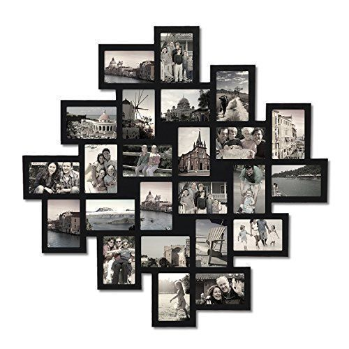 Black Wood Wall Hanging Collage Clustered Photo Frame By Adeco 24 Opening 4 By 6 Adeco Frame Wall Collage Frames On Wall Collage Picture Frames