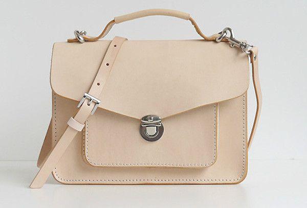 Handmade leather crossbody Satchel School messenger Shoulder Bag for w