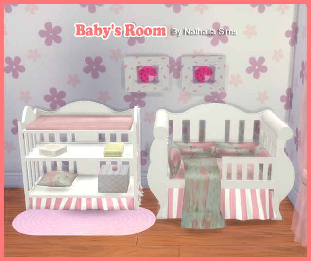 Sims 4 CCs  The Best Babys Room Conversion 2t4 by Nathaliasims