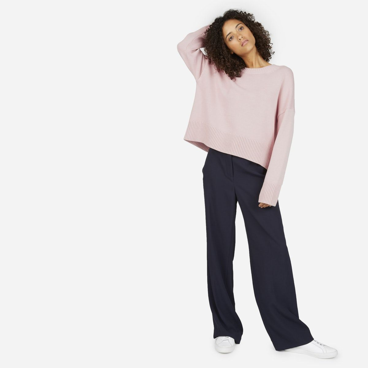 The Soft Cotton Square Crew | Cotton sweater, Layering and Cotton