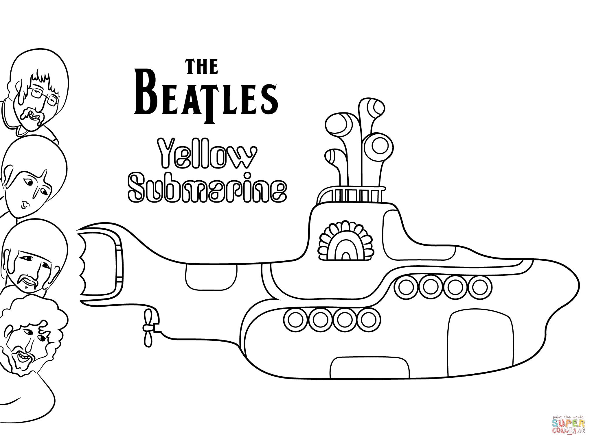 Submarino Amarillo Para Mosaiquear Buscar Con Google Yellow Submarine Art Beatles Drawing The Beatles