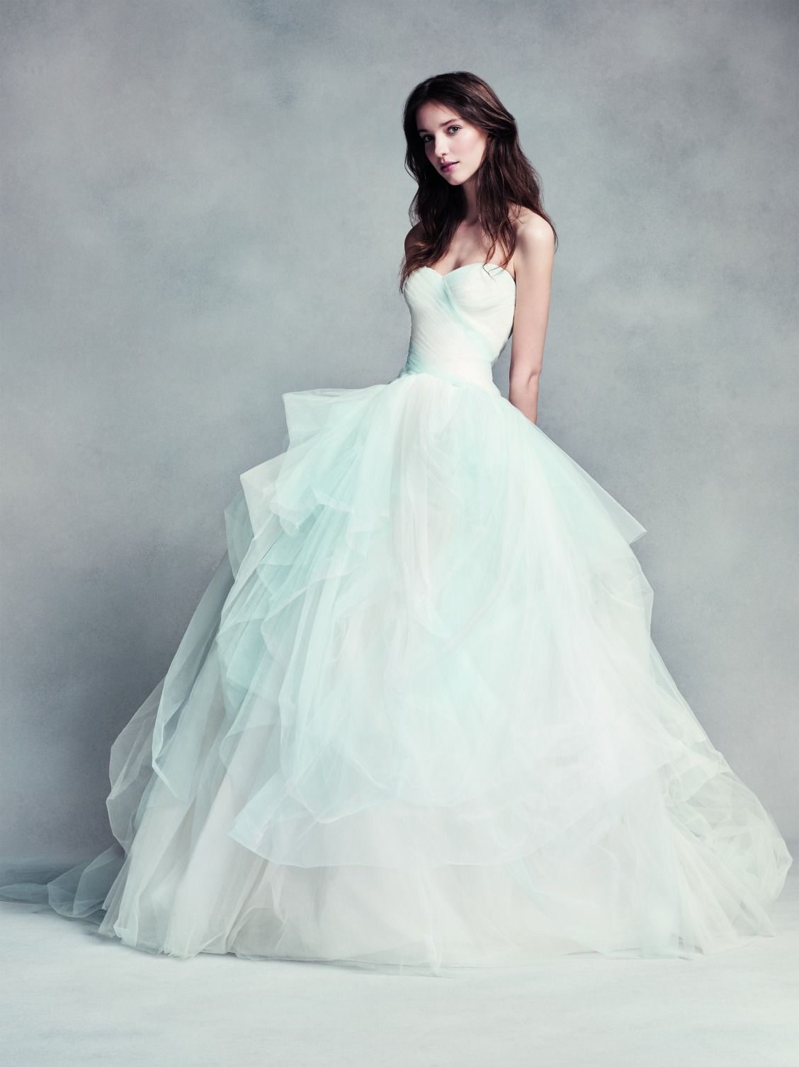 Something blue made easy. | WHITE by Vera Wang Strapless Sweetheart ...