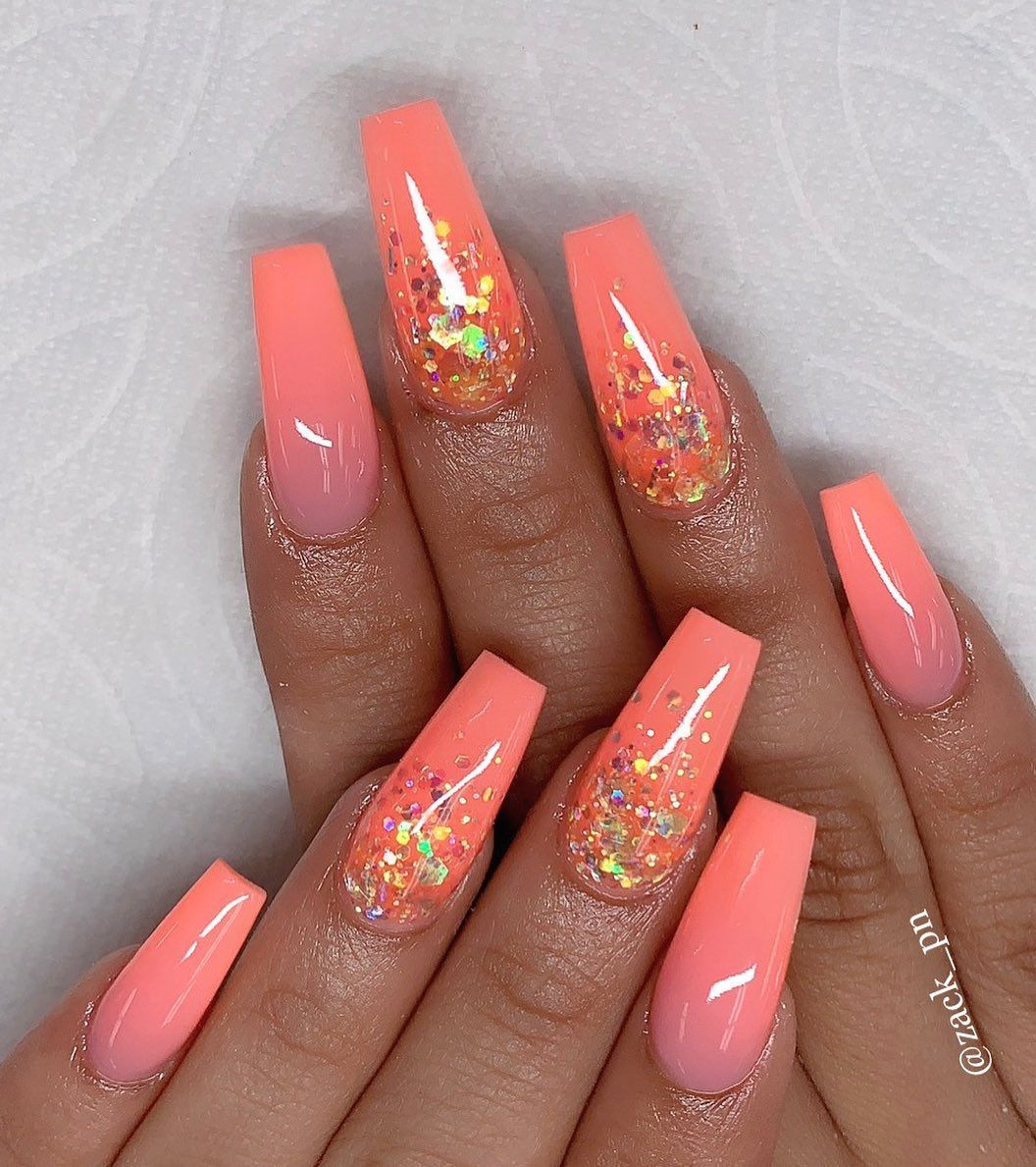 22 Best Jelly Nail Art Designs 2019 Letme Beauty In 2020 Bright Acrylic Nails Cute Acrylic Nail Designs Coral Acrylic Nails