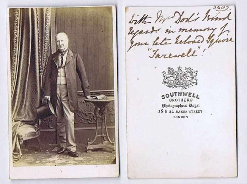 CDV Victorian Gentleman Mr Dod Carte De Visite By Southwell Brothers Of London Plenty Info