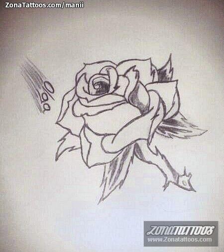 Diseno Plantilla Tatuaje Rosas Tatuajes De Rosas Disenos De Unas Boceto