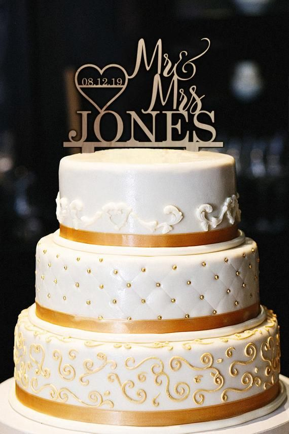 Personalized Wedding Cake Topper Rustic Wedding Cake Topper