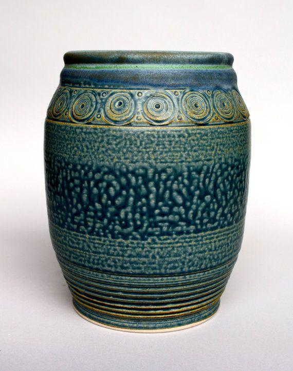 Best Vessel Blue Ochre Faux Ash Glaze Glaze Pottery Vase Ash 400 x 300