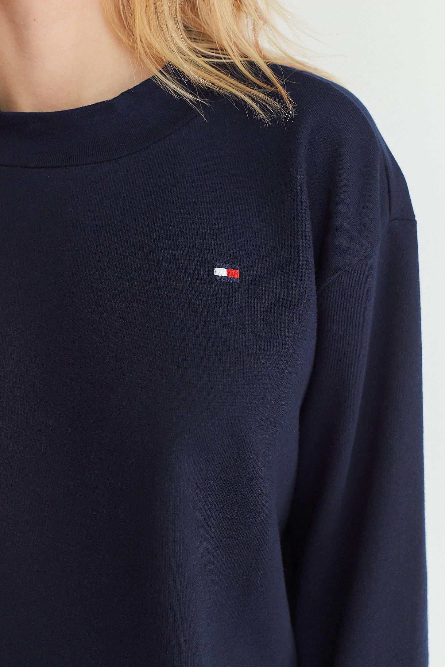 Tommy Hilfiger UO Exclusive Mock Neck Pullover Sweatshirt
