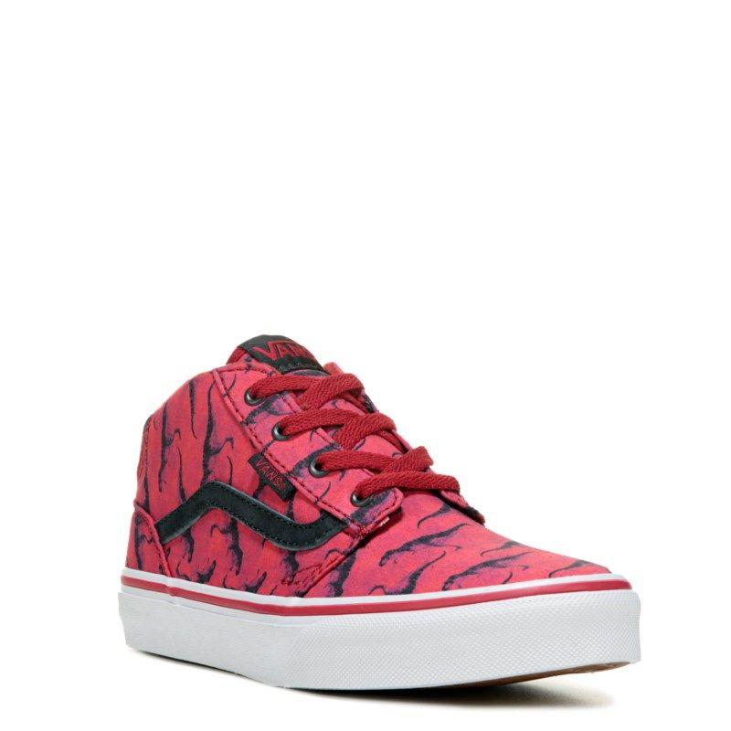 48984e991c Vans Kids  Chapman High Top Sneaker Pre Grade School Shoes (Digi Rex Red) -  13.0 M