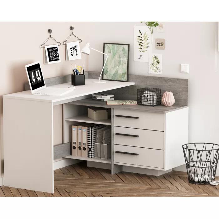 Gillian Corner Desk In 2020 Corner Writing Desk Corner Desk