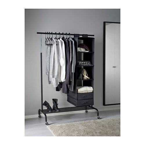 rigga portant noir ikea miriam 39 s very own place pinterest rangement vetement. Black Bedroom Furniture Sets. Home Design Ideas