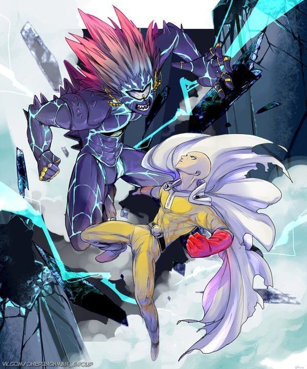 ONE PUNCH MAN, Fanart, Saitama VS Lord Boros   Saitama one ...