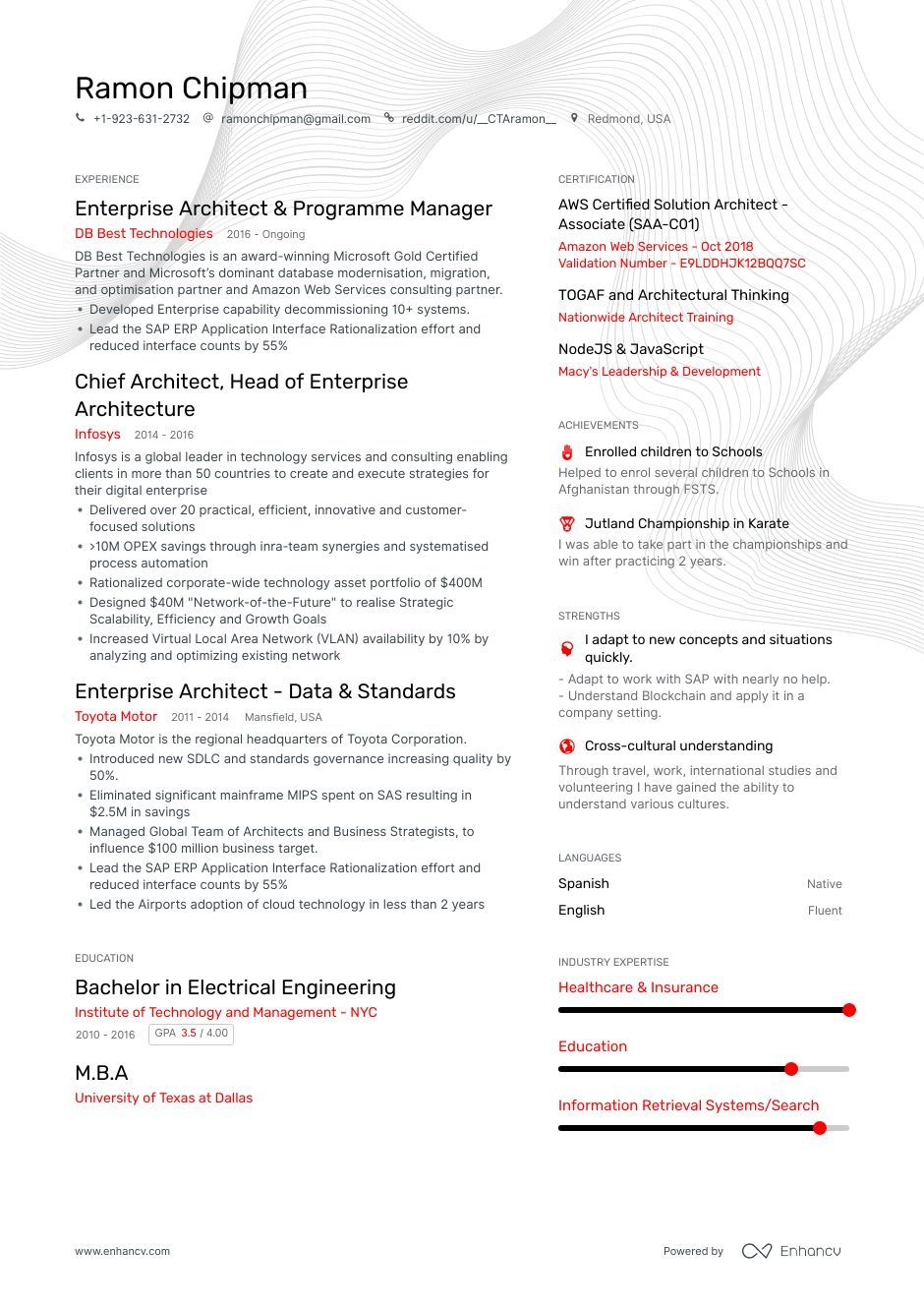 Enterprise Architect Resume Samples and Writing Guide for
