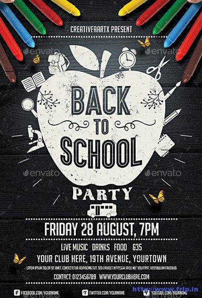 60+ Best Back To School Flyer Print Template 2018 Pinterest - back to school flyers