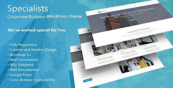 Specialists - Corporate/Business WordPress Theme