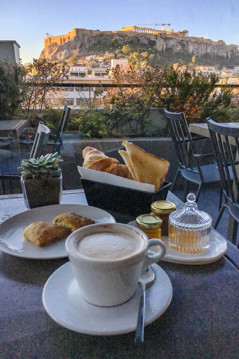 Breakfast With View Of The Acropolies At The Zillers Boutique Hotel Roof Terrace Athens Pergola Plans Diy Boutique Hotel Underground Homes