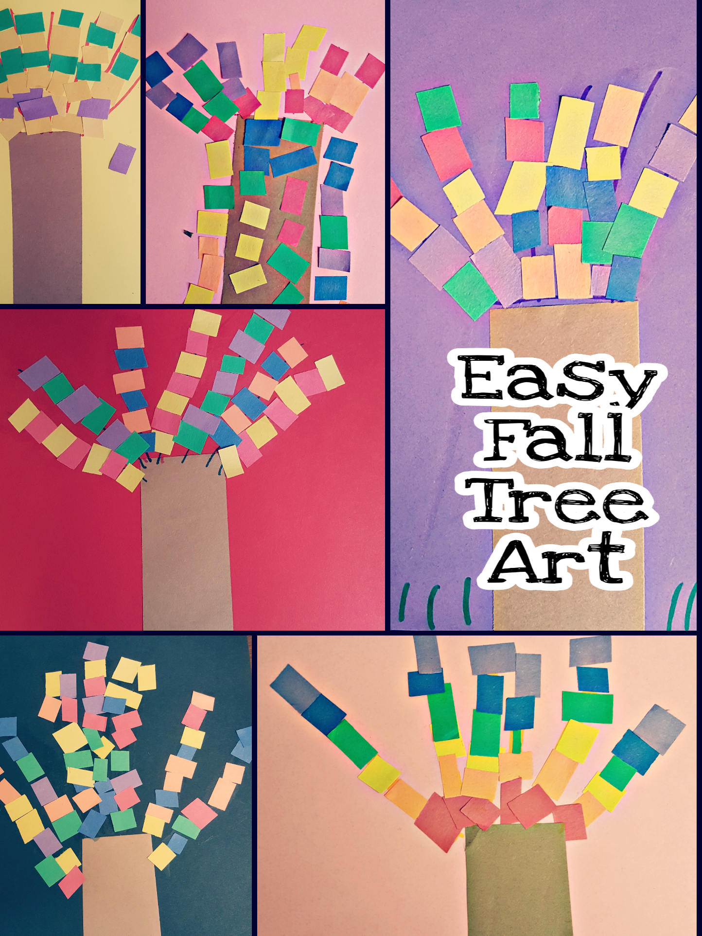 A Beautiful And Easy Fall Tree Craft For Young Kids