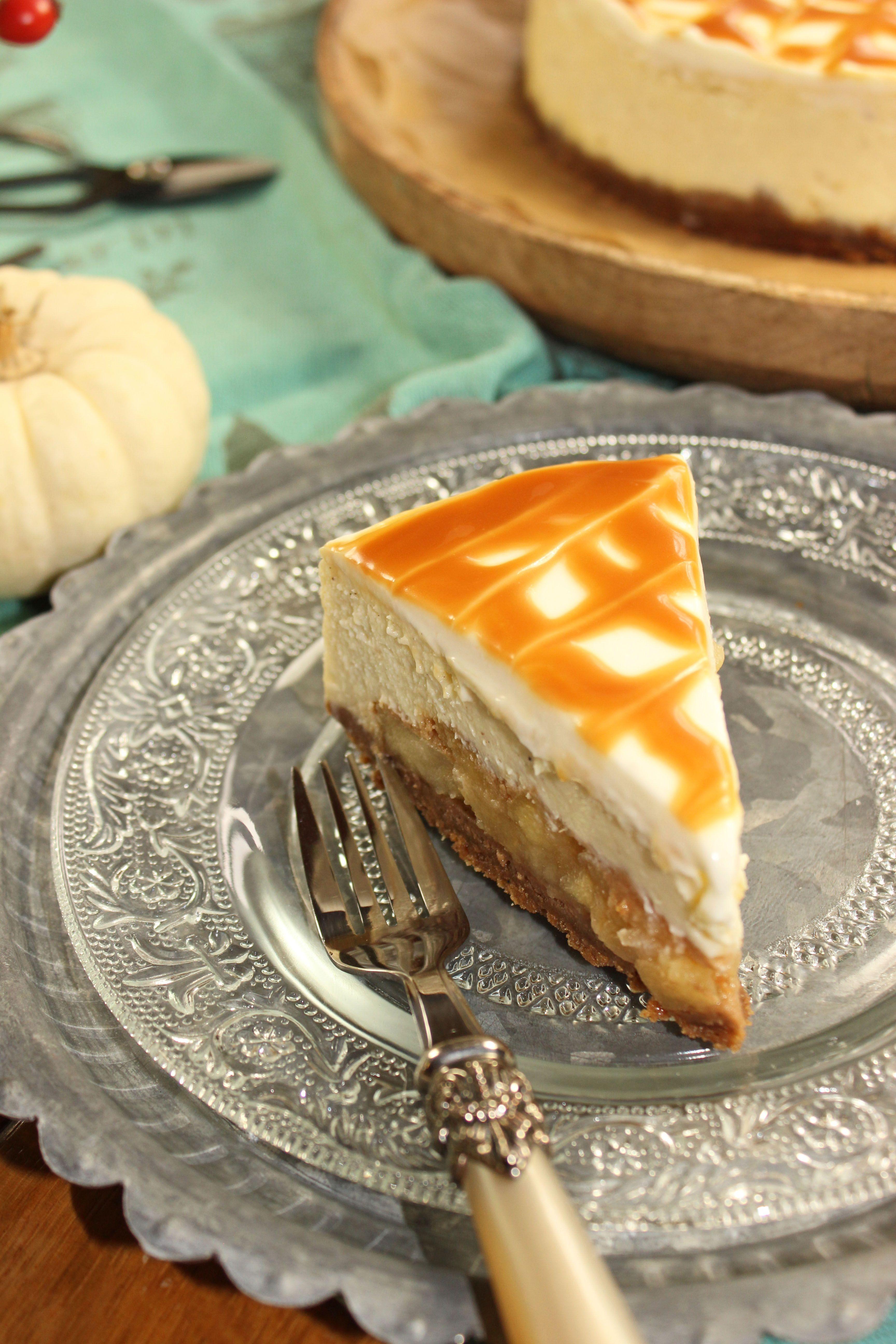 Ein Karamell Apfel Cheesecake und zwei Blog Events