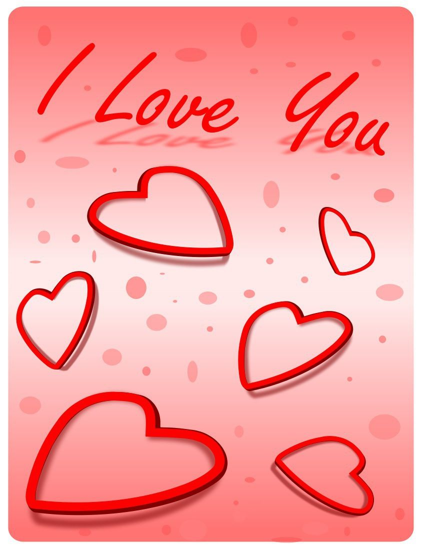 i love you greeting cards for wife happy valentine day 2015