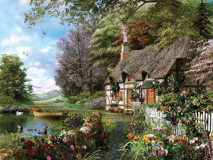 Country Cottage Countryside Jigsaw Puzzle  I want it