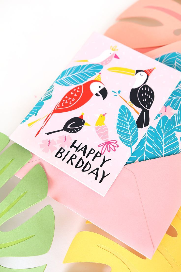 April Newsletter Free Printable Birthday Card