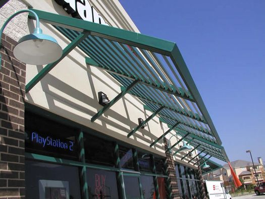 Metal Louver Sunscreen Commercial Canopies