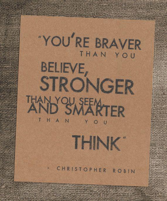 senior quote! 8 x 10 Kraft Art Print Christopher Robin