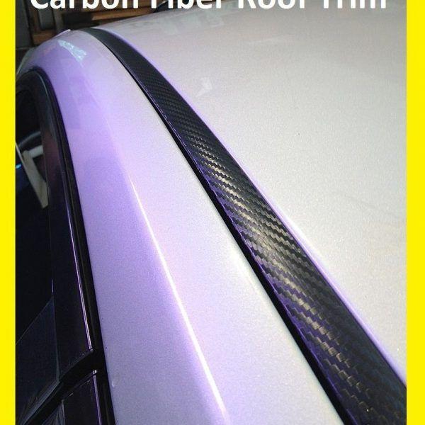 For 2011 2017 Nissan Juke Black Carbon Fiber Roof Trim Molding Kit 2017 2018 Carbon Fiber Roof Trim Car Model