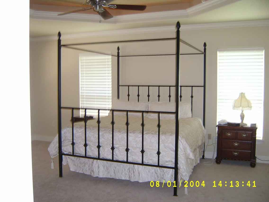 wrought iron canopy bed king size | Bedroom | Pinterest | Canopy bed ...