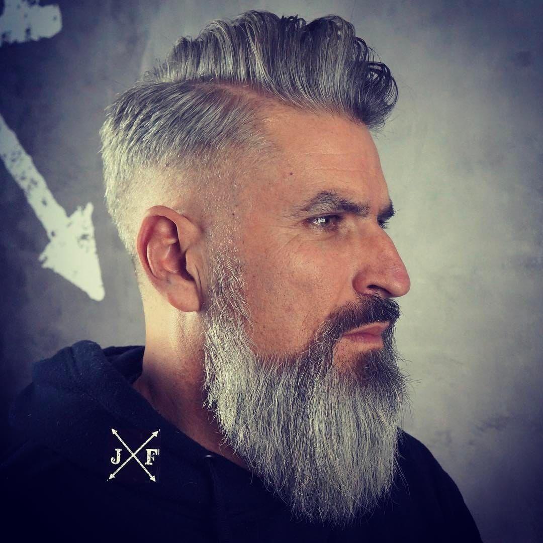 hairstyles for older mens long hair