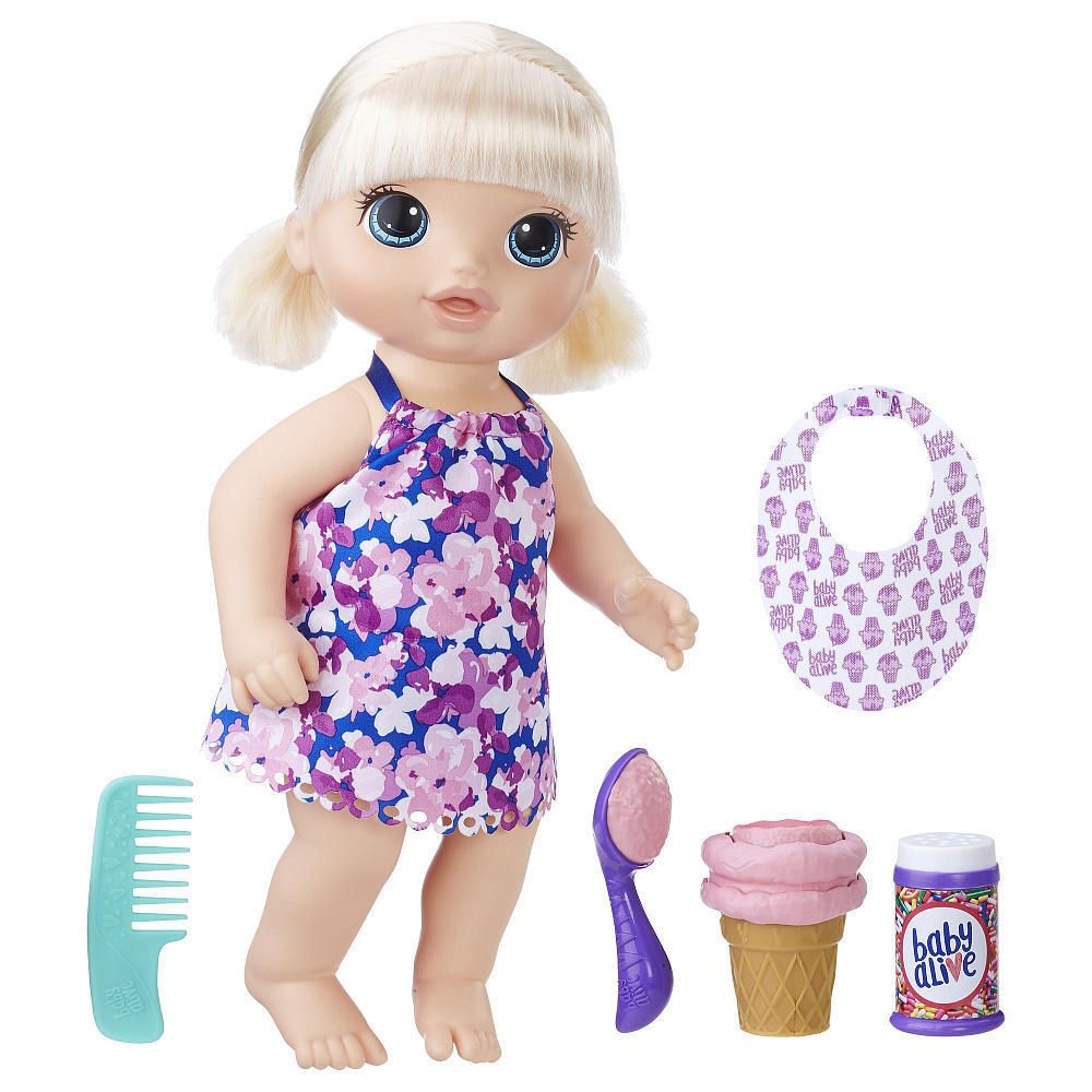 Baby Alive Magical Scoops Baby Doll Blond Hasbro Nib